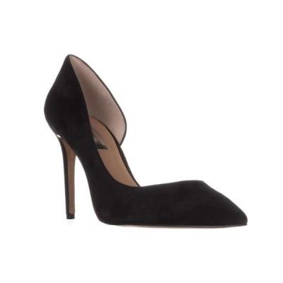 レディース 靴 ヒール パンプス Womens I35 Kenjay Pointed Toe D'Orsay Heels Black Suede