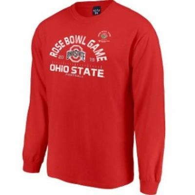 Blue 84 ブルー エイティーフォー スポーツ用品  Blue 84 Ohio State Buckeyes Scarlet 2019 Rose Bowl Bound Hayneedle Long Sleeve T-S