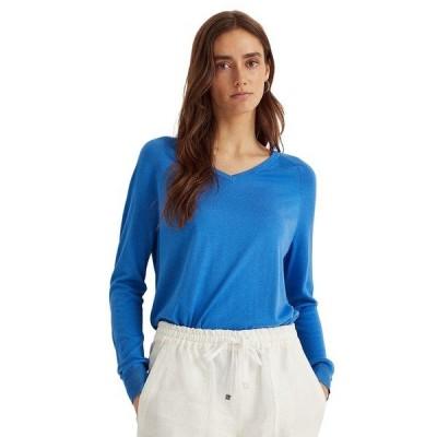ラルフローレン ニット&セーター アウター レディース V-Neck Sweater Captain Blue