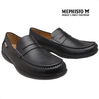メフィスト 正規品 靴 MEPHISTO IGOR BLACK ローファー スリッポン ウォーキングシューズ メンズ 革靴 紳士靴