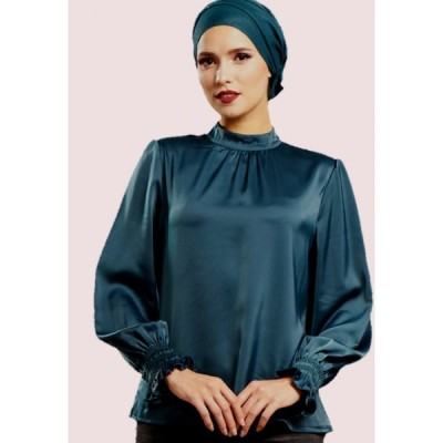 ラブアイシャ Loveaisyah レディース ブラウス・シャツ トップス Victoria Long Sleeves Top Dark Turquoise