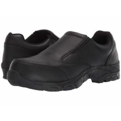 カーハート メンズ スニーカー シューズ Lightweight Carbon Nano Toe Slip-On Work Shoe Black Oil Tanne