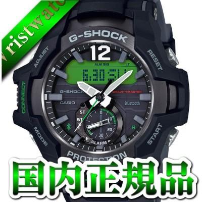カシオ Gショック ジーショック CASIO G-SHOCK グラビティマスター ブラック グリーン Bluetooth搭載 GR-B100-1A3JF メンズ 腕時計 国内正規品 送料無料