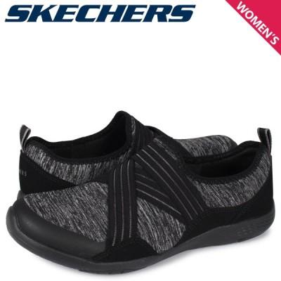 スケッチャーズ SKECHERS ロロー スニーカー スリッポン レディース LOLOW TOO QUICKLY ブラック 黒 104038-BKCC 9/18 追加入荷