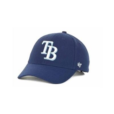 47ブランド メンズ 帽子 アクセサリー Tampa Bay Rays MLB MVP Curved Cap Navy