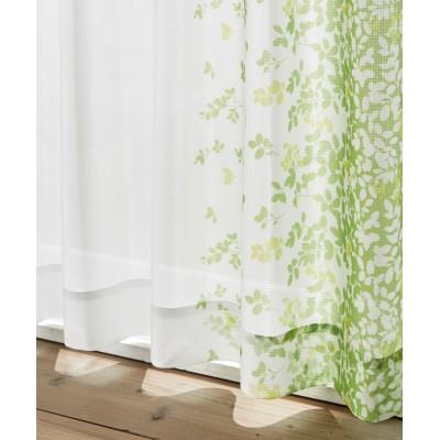 リーフ柄・夕方まで見えにくいレースカーテン レースカーテン・ボイルカーテン, Curtains, sheer curtains, net curtains(ニッセン、nissen)