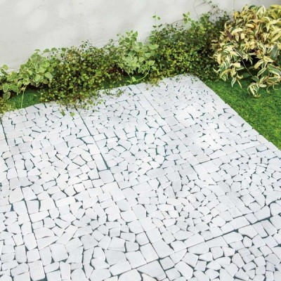 ガーデニング フラワー ガーデニング用品 エクステリア ガーデニンググッズ 雑草が生えない天然石マットホワイト 12枚 G91407