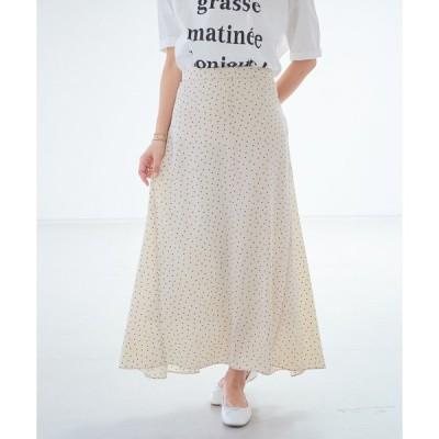 スカート ドットロングスカート