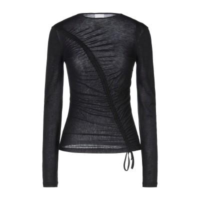 P_JEAN T シャツ ブラック S テンセル 70% / ウール 30% T シャツ