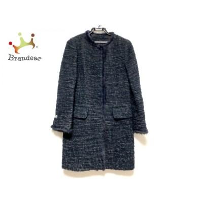 ビアッジョブルー コート サイズ1 S レディース 美品 - ダークグレー×マルチ 長袖/ミンク/冬 新着 20200710