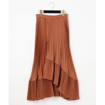 GRACE CONTINENTAL / サテンプリーツイレヘムスカート WOMEN スカート > スカート
