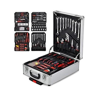 工具セット Juego de herramientas, 799-pcs Tool Set, General Household Hand Tool Kit with Aluminum Trolley Case