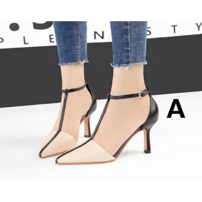 上品 韓国風 3色 ポインテッドトゥ サンダル 春夏 ハイヒール レディース 靴 パンプス 7.5CMくらいヒール 細いヒール 痛くない 美脚 二次会 20代30代40代