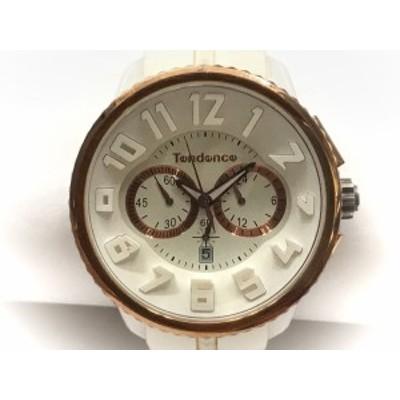 テンデンス TENDENCE 腕時計 S04P メンズ クロノグラフ 白【中古】20200715