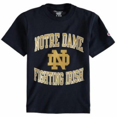 Champion チャンピオン スポーツ用品  Champion Notre Dame Fighting Irish Youth Navy Circling Team Jersey T-Shirt