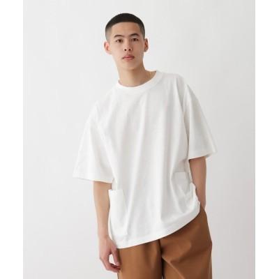BASE CONTROL(ベースコントロール) 抗菌防臭 ビッグシルエット カーゴポケット ロゴワンポイント刺繍Tシャツ