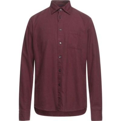 イートン ETON メンズ シャツ トップス Solid Color Shirt Maroon
