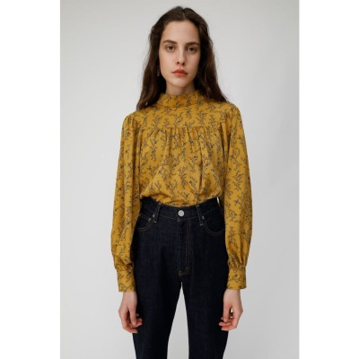 マウジー moussy IVY FLOWER YORK BLOUSE (イエロー)