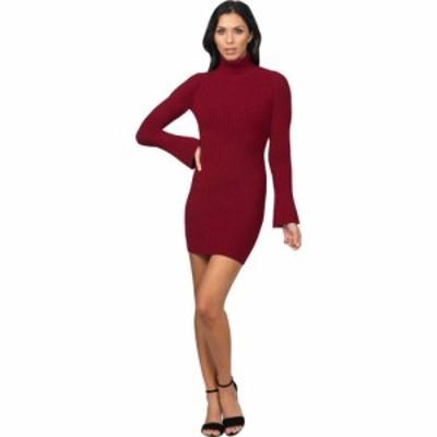 ベベ Bebe レディース ワンピース ワンピース・ドレス Mock Neck Sweaterdress Red