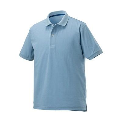 ミズノ(MIZUNO) メンズ ニットサッカーポロシャツ ダスクブルー B2MA0042 18 半袖 トレーニング スポーツウェア トップス