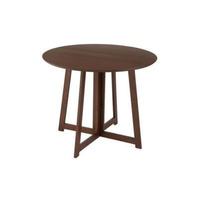 ドウシシャ 折り畳みテーブル丸形 BR/DT90R-BR ブラウン