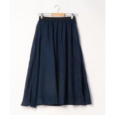 スカート オパール変形ドットフレアスカート