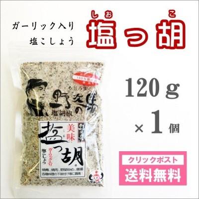 塩っ胡(しおっこ) 袋入り120g 1個 塩工房野次馬 ガーリック塩コショウ