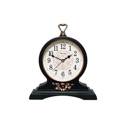 マントルクロック 12インチ マントルクロック 静かでカチッと音が出ない レトロマントルクロック リビングルーム/キッチンの装飾用 ブラック