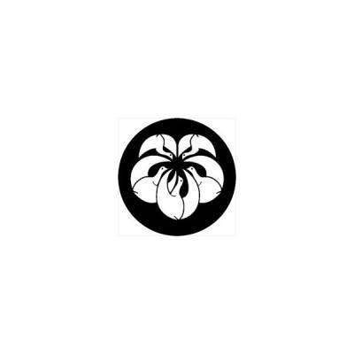 家紋シール 蔦形光琳鶴紋 直径4cm 丸型 白紋 4枚セット KS44M-3607W