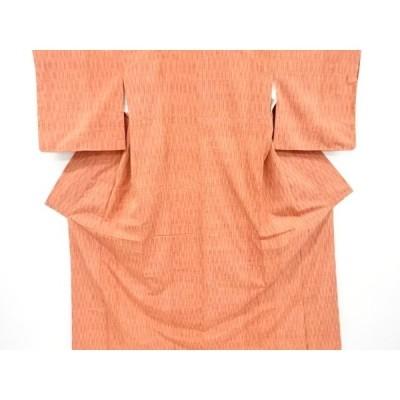 宗sou 未使用品 よろけ縞織り出し手織り紬着物【リサイクル】【着】