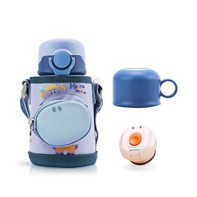 Bunnytoo 水筒 子供 2WAY ストローボトル 真空断熱 保温 保冷 450ml/500ml 魔法瓶 キッズボトル 真空二重構造 漏