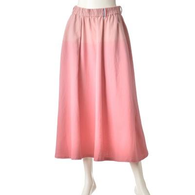 PERSONS グラデーションカラーフレアースカート