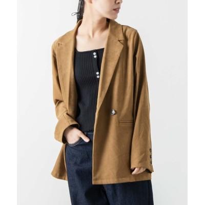 WEGO / WEGO/【セットアップ対応商品】スウェードライクジャケット WOMEN ジャケット/アウター > テーラードジャケット