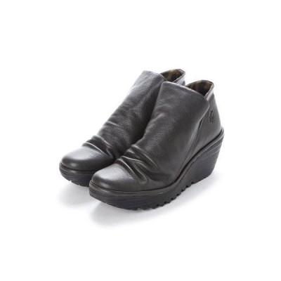 ヨーロッパコンフォートシューズ EU Comfort Shoes FLYLONDON ショートブーツ(500.505) (ダークグレー)