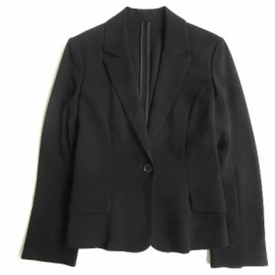 【中古】ナチュラルビューティーベーシック NATURAL BEAUTY BASIC スーツ テーラード ジャケット ブレザー S 黒 ▼5