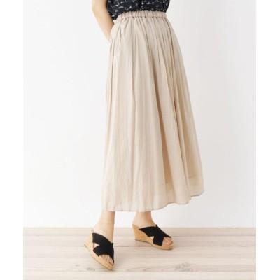 【シューラルー】 ワッシャーギャザースカート レディース サンドベージュ 03(L) SHOO・LA・RUE