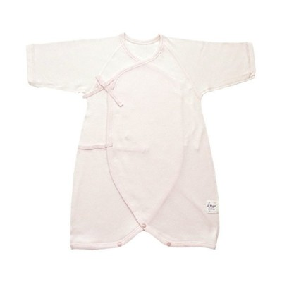 村信 ラ・モルフェ加工 スムース(厚手) コンビ肌着 80cm ピンク NL20048 日本製
