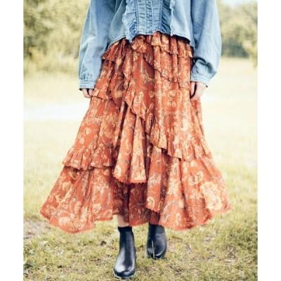 スカート SPELL Aurora Skirt Burnt Ember (スペル オーロラスカート バーントアンバー)(Red)(スカート)