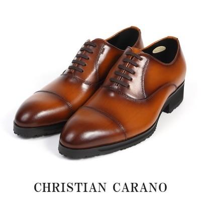 CHRISTIAN CARANO クリスチャンカラノ HTK-859 ビジネスシューズ - 本革 ストレートチップ スワールトゥ 内羽根 3E 撥水 ラジアルソール