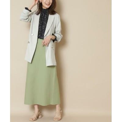 N.Natural Beauty Basic/エヌ ナチュラルビューティーベーシック ウォッシャブルニットタイトスカート ライトグリーン M