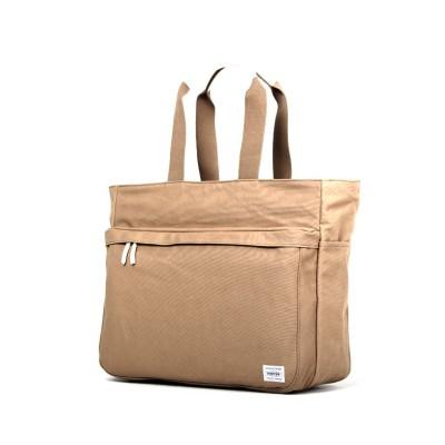 【カバンのセレクション】 吉田カバン ポーター ビート トートバッグ メンズ キャンバス ファスナー付き 大きめ 大容量 A3 PORTER 727-09043 ユニセックス ベージュ 在庫 Bag&Luggage SELECTION