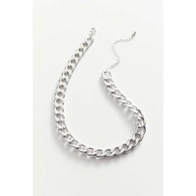 アーバンアウトフィッターズ Urban Outfitters レディース ネックレス ジュエリー・アクセサリー casey curb chain necklace Silver