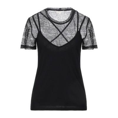 MAJE T シャツ ブラック 1 コットン 51% / レーヨン 49% / ポリエステル T シャツ