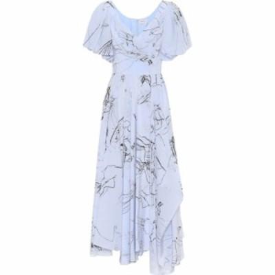 アレキサンダー マックイーン Alexander McQueen レディース ワンピース ミドル丈 ワンピース・ドレス printed silk midi dress Moonshin