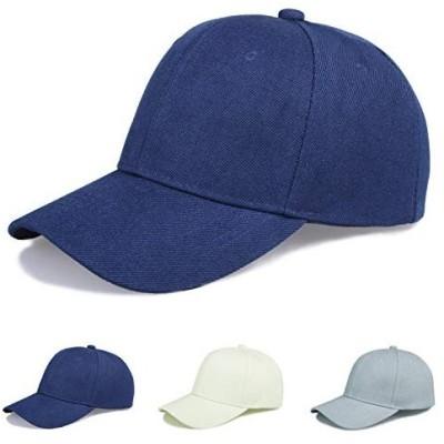 キャップ帽子,スポーツ用キャップ、野球キャップ、男女共有、純色帽子、年中着用可能 (M, 青色)
