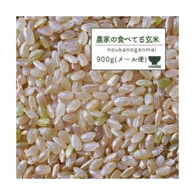 新米 米 お試し 玄米食 調整済 2年産 農家の食べているおいしい玄米900g(6合)オリジナル クリックポスト便【米900g】