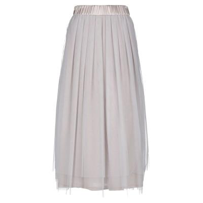 ペゼリコ PESERICO ロングスカート ドーブグレー 46 ナイロン 100% / シルク / ポリウレタン ロングスカート