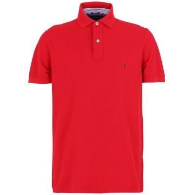 YOOX - トミーヒルフィガー TOMMY HILFIGER ポロシャツ レッド S コットン BCI 100% ポロシャツ