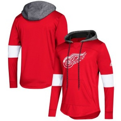 アディダス メンズ パーカー・スウェット アウター Detroit Red Wings adidas Platinum Jersey Pullover Hoodie Red