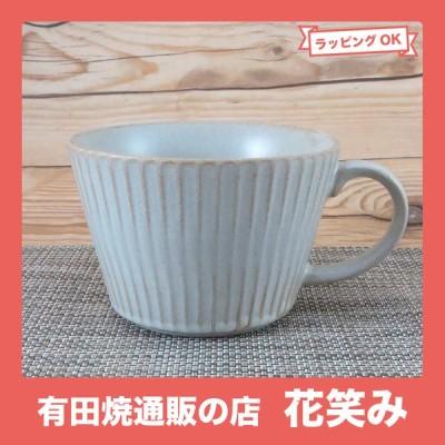 【11月再入荷】スープカップ 美濃焼 華蝶扇スープカップ(白釉) 色違いあり シノギ|和食器 陶器 三階菱